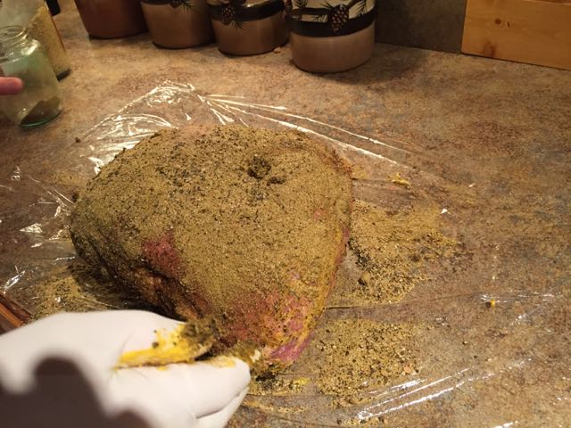 Mustard and Green Chili Rub
