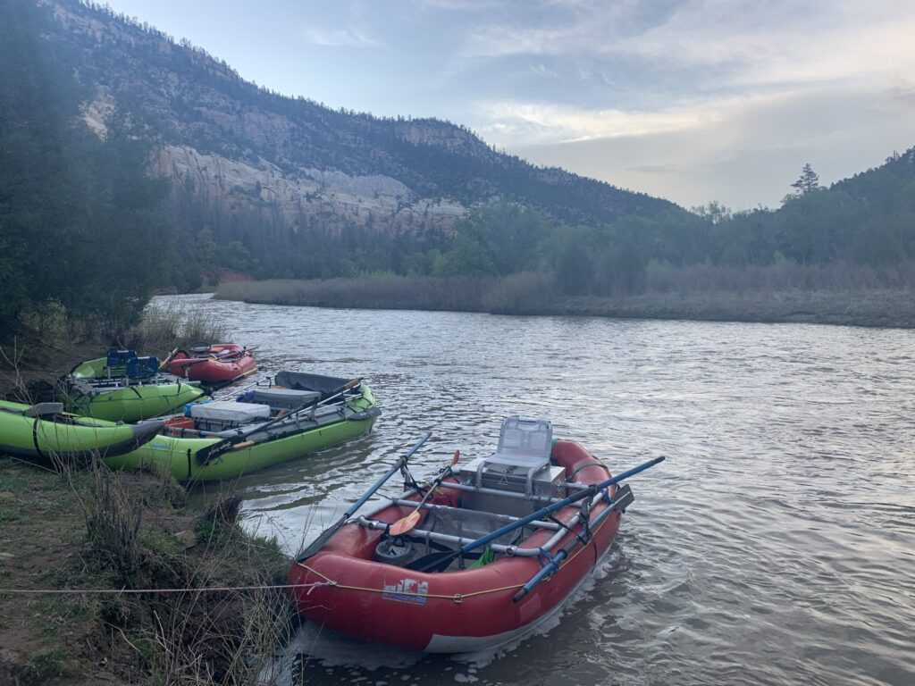 Boat parking for Chama Wall campsite