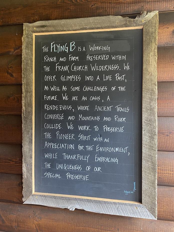 Sign at Flying B Ranch