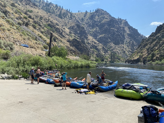Take out at Cache Bar for Middle Fork