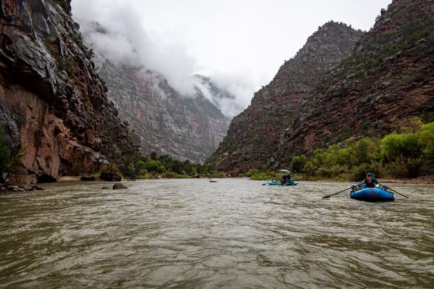 Fog in Lodore Canyon