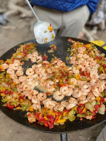 Shrimp Fajitas on Cowboy Wok