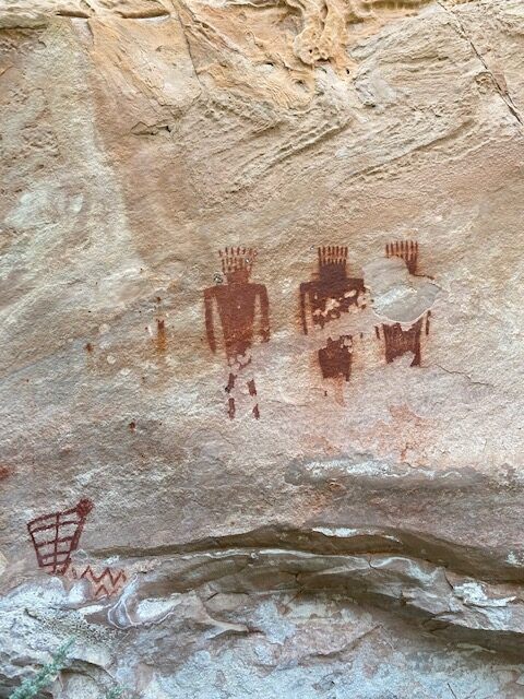 Pictographs at Jones Hole