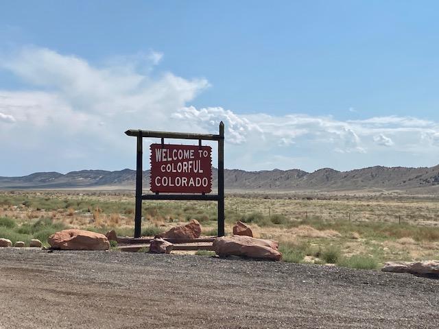 Utah Colorado Border on US 40